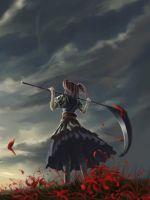 Girl with scythe