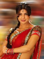 Priyanka in red Saree