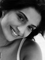 Sonam in black & white
