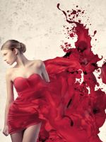 Girl-In-Painted-Red-Dress