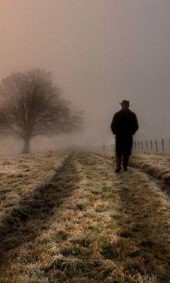 Lonely-Man-Walking-In-Field