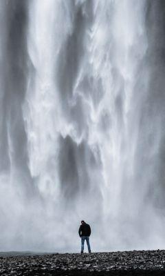 Man-And-Waterfall