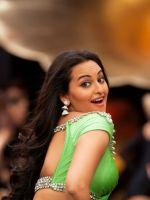 Sonakshi in green saree