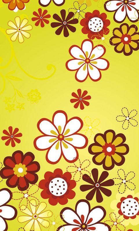 fabric flowers yellow