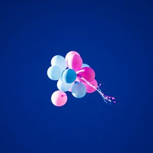 Pink And Blue Balloons Wallpaper