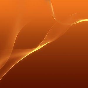 Sony Xperia Z  Wallpapers Hero Flow Orange