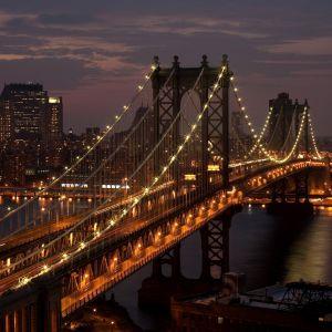 Bridge Lights Galaxy S  Wallpaper