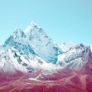 Glacier Peaks And Lake Nature Mobile Wallpaper     X