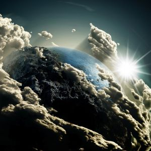 Earths View In Clouds Top    HD Samsung Galaxy S  Wallpapers Download