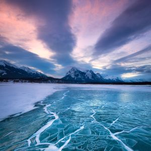 Abraham Lake Winter Scape