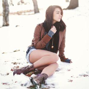 Girls In Snow Forest Wallpaper