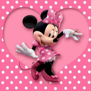 Minnie Mouse Wallpaper Cartoon Disney Pink Polka Dots Heart