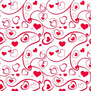 Heart And Swirl Pattern Holiday Mobile Wallpaper     X