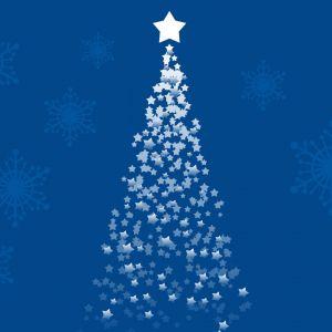 Galaxy Samsung S  Wallpaper Christmas Holidays Blue Tree
