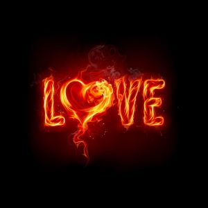 My Sony Xperia Z HD Fire Art Flaming Love