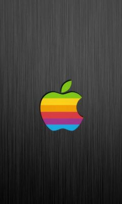 Apple Logo on gray