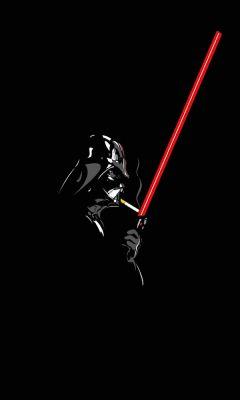Laser in dark