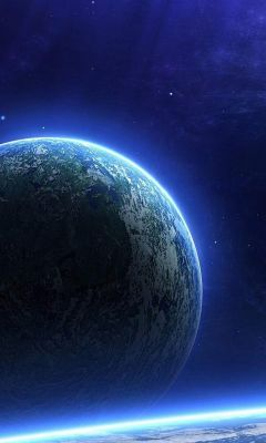 Planet space view