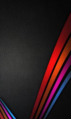 Colorful lines on Black