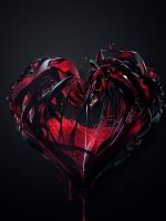 D Abstract Blood Hearts    X