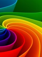 Abstract Colorful Rainbows    X