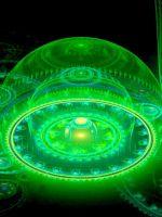 Green Abstract Balls    X