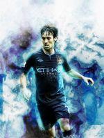 David Silva Soccer Manchester City     X