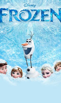 Frozen Cartoon Mobile Wallpaper     X