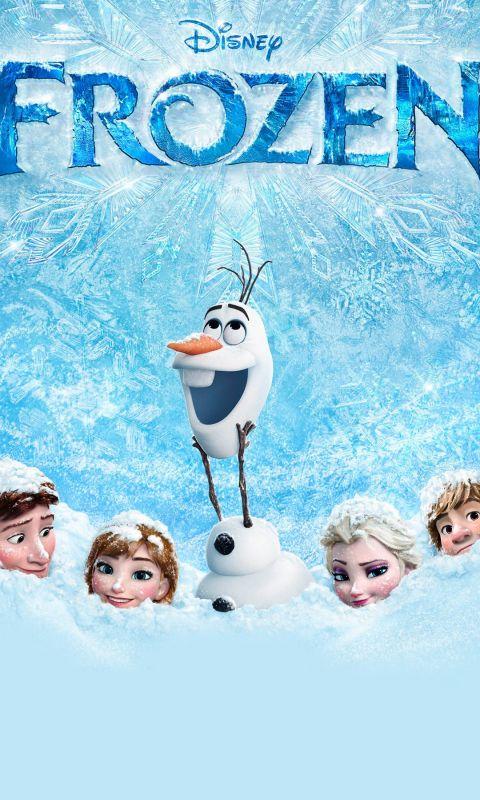 Frozen Cartoon Mobile Wallpaper     X
