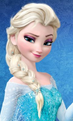 Elsa Frozen Cartoon Mobile Wallpaper     X