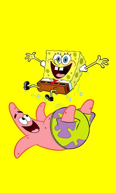 Spongebob And Patrick Cartoon Mobile Wallpaper     X