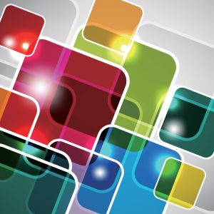 Abstract Colorful Squares Backgrounds Powerpoint