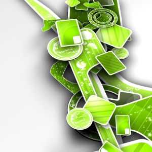 Green Abstract  D Art     X