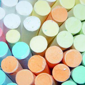 Multi Colored Abstract Chalk Randomly Set