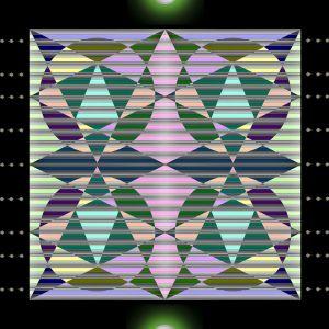 Inf Beau Cel Gard Abstr TS C       C Circled Triangulated NegPos Abstract Photo  Tilted Window    X
