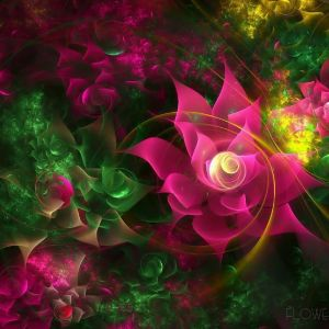 Abstract Flowers Pink Fractal Desktop