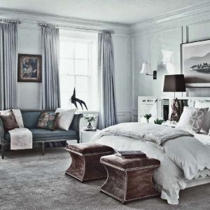 Master Bedroombrwon Blue White Decorating Design Decor Ideas Via Greige