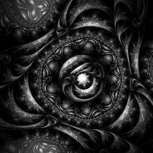 Black Dark Fractal Wallpaper