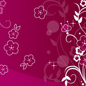Abstract Pink Flowers Wallpaper