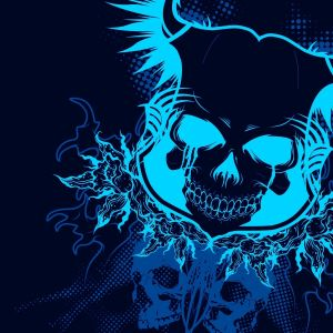 Blue Skull Abstract Wallpaper