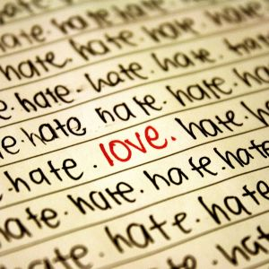 Abstract Words Wallpapers Love Me And Hate Me