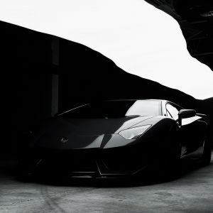 Amazing Black Lamborghini Wallpaper