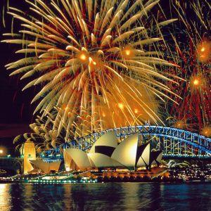 Sydney Opera House Fireworks Wallpaper