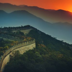 The Great Wall At Sunset Wallpaper