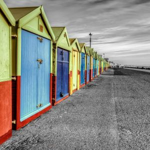 Rainbow Of Huts Wallpaper