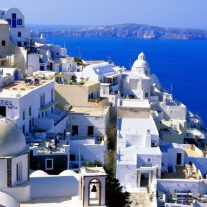 Summer Santorini Cyclades Islands Greece     X