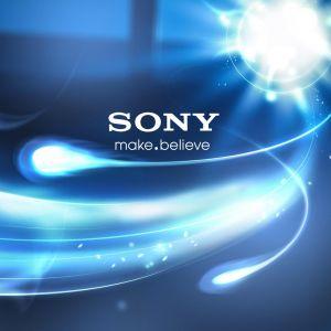 Sony Make Believe Logo Blue Lights