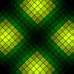 Green Rhombuses Abstract Mobile Wallpaper     X