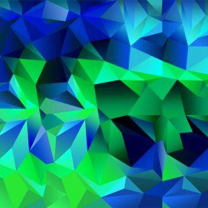 Galaxy S  HD Wallpaper Default Color Blue Green