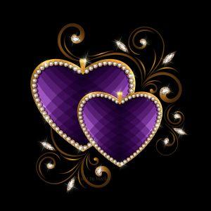 Luxury Hearts Desktop Background